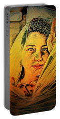 Lady Wrapped In Strings Portable Battery Charger