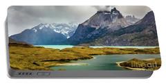 Laguna Larga, Lago Nordernskjoeld, Cuernos Del Paine, Torres Del Paine, Chile Portable Battery Charger