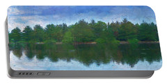 Lake And Trees Portable Battery Charger