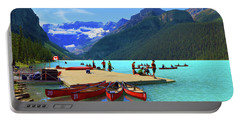 Lake Louise In Alberta Canada Portable Battery Charger