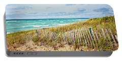 Lake Michigan Beachcombing Portable Battery Charger