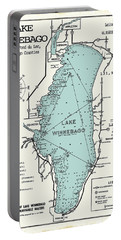 Lake Winnebago Wisconsin Map  Portable Battery Charger