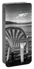 Portable Battery Charger featuring the photograph Lakeside Waiting Room by Tom Gresham