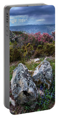 Landscape In Ourense, Galicia, Spain, Next To The Sil River And Canyon Portable Battery Charger