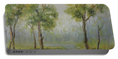 Landscape Of The Great Swamp Of New Jersey With Pond Portable Battery Charger