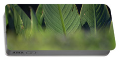 Large Dark Green Leaves Portable Battery Charger