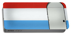 Las Croabas - Red White And Blue Portable Battery Charger