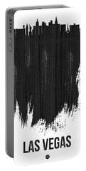 Las Vegas Skyline Brush Stroke Black Portable Battery Charger