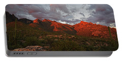 Last Light On Catalina Mountains Portable Battery Charger