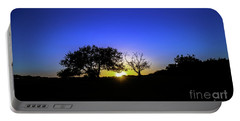 Last Light Texas Hill Country Paradise Canyon Sunset 8053a1 Portable Battery Charger