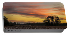 Late Fall In The Cotton Field Portable Battery Charger