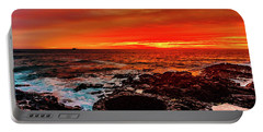 Lava Bath After Sunset Portable Battery Charger