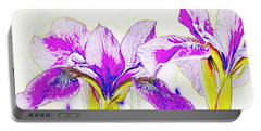 Lavender Irises Portable Battery Charger