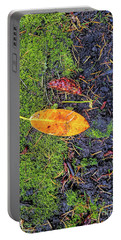 Portable Battery Charger featuring the photograph Leaf And Mossy by Jon Burch Photography