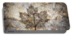 Leaf Imprint Portable Battery Charger