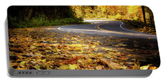 Leaves Along The Road Portable Battery Charger