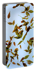 Portable Battery Charger featuring the photograph Leaves On Glass by Jon Burch Photography