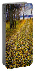 Portable Battery Charger featuring the photograph Leaves On Trail by Tom Gresham