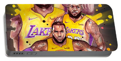 Lebron James, Los Angeles Lakers, Nba Portable Battery Charger