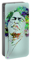 Legendary James Brown Watercolor Portable Battery Charger