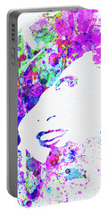 Legendary Marlene Dietrich Watercolor I Portable Battery Charger