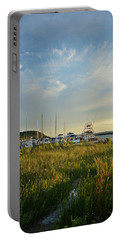 Leland Harbor At Sunset Portable Battery Charger