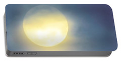 Portable Battery Charger featuring the photograph Leo Blue Super Moon by Judy Kennedy
