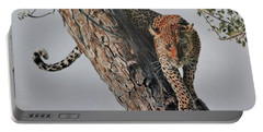 Leopard In Tree Portable Battery Charger