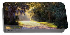 Light, Shadows And An Old Dirt Road Portable Battery Charger