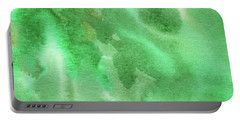 Light Through Green Marble Abstract Watercolor Portable Battery Charger