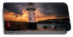 Lighthouse Dramatic Sky Portable Battery Charger