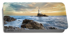 Lighthouse In Ahtopol, Bulgaria Portable Battery Charger