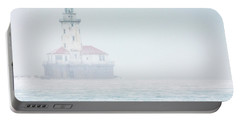 Lighthouse In The Mist Portable Battery Charger