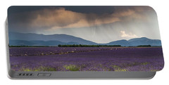 Lightning Over Lavender Field Portable Battery Charger
