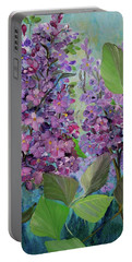 Lilac Love Portable Battery Charger