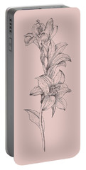 Lily Blush Pink  Flower Portable Battery Charger