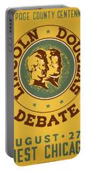 Lincoln Douglas Debate - Wpa - 1939 Portable Battery Charger