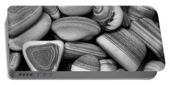 Lined Rocks And Shell Portable Battery Charger