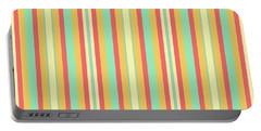 Lines Or Stripes Vintage Or Retro Color Background - Dde589 Portable Battery Charger