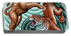 Lion And Tiger  Portable Battery Charger