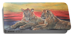 Lion Sunset Portable Battery Charger