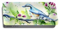 Little Blue Spring Bird Portable Battery Charger