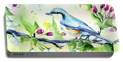 Little Blue Spring Bird Portable Battery Charger