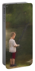 Little Boy Fishing Portable Battery Charger