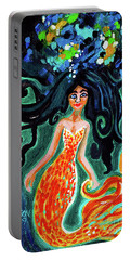 Little Mermaid In Orange Portable Battery Charger