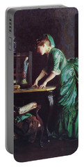 Lizzy Young In Green Portable Battery Charger