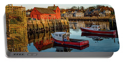 Lobster Traps, Lobster Boats, And Motif #1 Portable Battery Charger