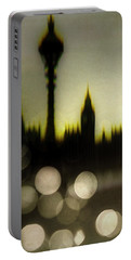 Portable Battery Charger featuring the digital art London Lights by Edmund Nagele