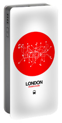London Red Subway Map Portable Battery Charger