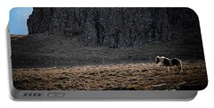 Lone Horse In Iceland Portable Battery Charger